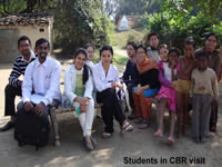 Students in CBR Visit